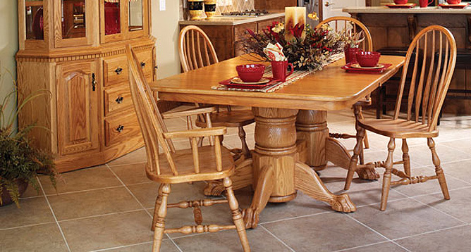 Hardwood Dining Room Furniture Valley View Oak Amish Creative